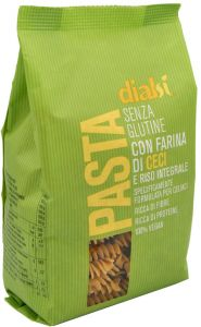 Dialsì Wholegrain Rice and Chickpeas Fusilli 240 g.