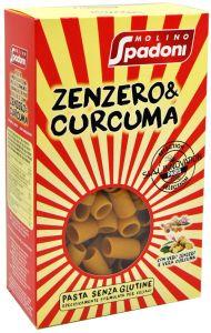 Molino Spadoni Mezze Maniche Gingembre et Curcuma Sans Gluten 400 g.