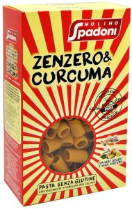 Molino Spadoni Mezze Maniche Zenzero e Curcuma Senza Glutine 400 g.