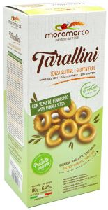 Mora Marco Tarallini Bread  with Fennel Seeds Gluten Free 6 X 30 g.