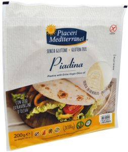 Piaceri Mediterranei Piadina with Extra Virgin Olive Oil  2 X 100 g.