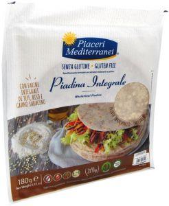 Paiceri Mediterranei Piadine à la Farine de Blé Entier Sans Gluten 2 X 100 g.