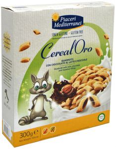 Piaceri Mediterranei Crunchy Cereals Chocolate and Hazelnuts 300 g.