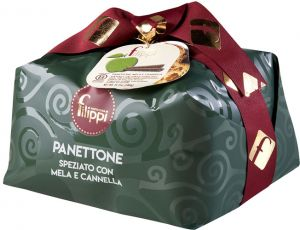 Filippi Apple and Cinnamon Panettone 1 Kg.