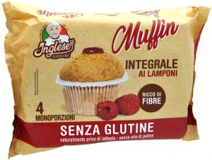 Inglese Wholemeal Raspberry Muffins Gluten Free 4 X 40 g.