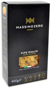 Massimo Zero Pipe Rigate Sans Gluten 400 g.