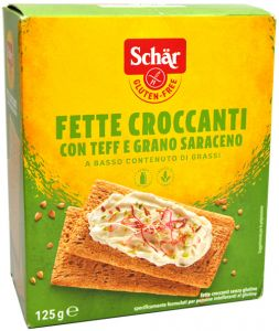 Schär Tranches de Teff Croustillant et de Sarrasin  Sans Gluten  125  g.