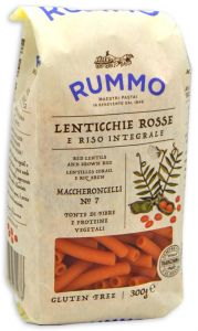 Rummo Maccheroncelli n°7 de Riz Compléte et Lentilles Rouge 300 g.