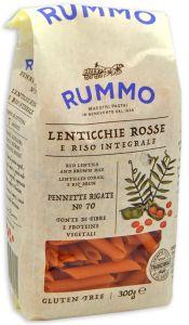 Rummo Pennette Rigate n°70 di Lenticchie Rosse e Riso Integrale 300 g.