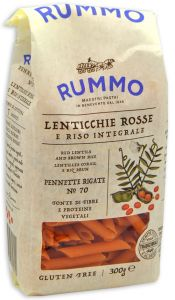 Rummo Wholegrain Rice and Red Lentils Pennette n°70 300 g.