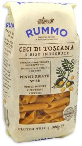Rummo Wholegrain Rice and Chickpeas Penne Rigate n°66 300 g.
